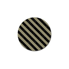 Stripes3 Black Marble & Khaki Fabric Golf Ball Marker (10 Pack) by trendistuff