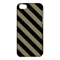 Stripes3 Black Marble & Khaki Fabric Apple Iphone 5c Hardshell Case by trendistuff