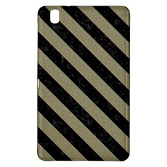 Stripes3 Black Marble & Khaki Fabric Samsung Galaxy Tab Pro 8 4 Hardshell Case by trendistuff