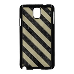 Stripes3 Black Marble & Khaki Fabric Samsung Galaxy Note 3 Neo Hardshell Case (black) by trendistuff