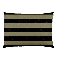 Stripes2black Marble & Khaki Fabric Pillow Case