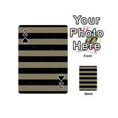 Stripes2black Marble & Khaki Fabric Playing Cards 54 (mini)  by trendistuff