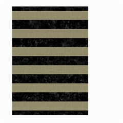 Stripes2black Marble & Khaki Fabric Large Garden Flag (two Sides) by trendistuff