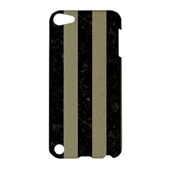 Stripes1 Black Marble & Khaki Fabric Apple Ipod Touch 5 Hardshell Case by trendistuff