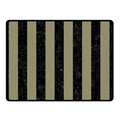 Stripes1 Black Marble & Khaki Fabric Double Sided Fleece Blanket (small)  by trendistuff