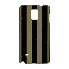 Stripes1 Black Marble & Khaki Fabric Samsung Galaxy Note 4 Hardshell Case by trendistuff