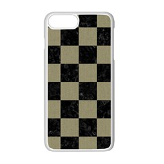 Square1 Black Marble & Khaki Fabric Apple Iphone 7 Plus Seamless Case (white) by trendistuff