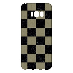 Square1 Black Marble & Khaki Fabric Samsung Galaxy S8 Plus Hardshell Case  by trendistuff