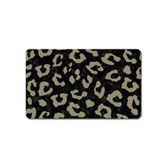 Skin5 Black Marble & Khaki Fabric Magnet (name Card) by trendistuff