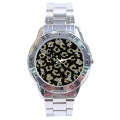 Skin5 Black Marble & Khaki Fabric Stainless Steel Analogue Watch by trendistuff