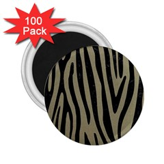 Skin4 Black Marble & Khaki Fabric (r) 2 25  Magnets (100 Pack)  by trendistuff