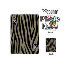 Skin4 Black Marble & Khaki Fabric (r) Playing Cards 54 (mini)  by trendistuff
