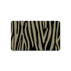 Skin4 Black Marble & Khaki Fabric Magnet (name Card) by trendistuff