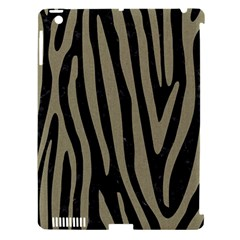 Skin4 Black Marble & Khaki Fabric Apple Ipad 3/4 Hardshell Case (compatible With Smart Cover) by trendistuff