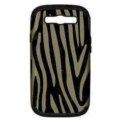 Skin4 Black Marble & Khaki Fabric Samsung Galaxy S Iii Hardshell Case (pc+silicone) by trendistuff