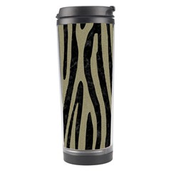 Skin4 Black Marble & Khaki Fabric Travel Tumbler by trendistuff