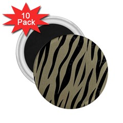 Skin3 Black Marble & Khaki Fabric 2 25  Magnets (10 Pack)  by trendistuff