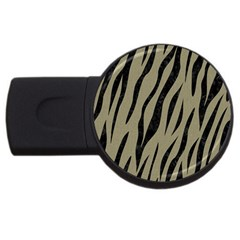 Skin3 Black Marble & Khaki Fabric Usb Flash Drive Round (2 Gb) by trendistuff