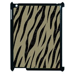 Skin3 Black Marble & Khaki Fabric Apple Ipad 2 Case (black) by trendistuff