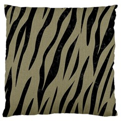 Skin3 Black Marble & Khaki Fabric Large Cushion Case (two Sides) by trendistuff