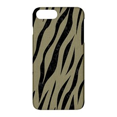 Skin3 Black Marble & Khaki Fabric Apple Iphone 7 Plus Hardshell Case by trendistuff