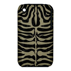 Skin2 Black Marble & Khaki Fabric (r) Iphone 3s/3gs by trendistuff