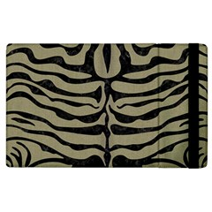 Skin2 Black Marble & Khaki Fabric Apple Ipad 2 Flip Case by trendistuff