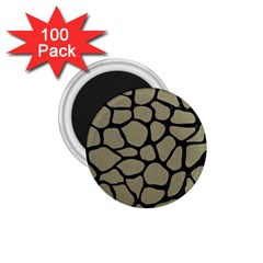 Skin1 Black Marble & Khaki Fabric (r) 1 75  Magnets (100 Pack)  by trendistuff