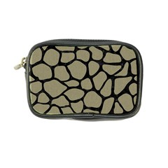 Skin1 Black Marble & Khaki Fabric (r) Coin Purse by trendistuff