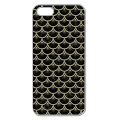 Scales3 Black Marble & Khaki Fabric (r) Apple Seamless Iphone 5 Case (clear) by trendistuff