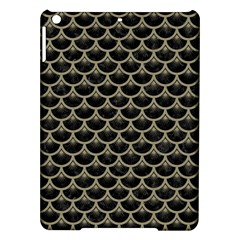 Scales3 Black Marble & Khaki Fabric (r) Ipad Air Hardshell Cases by trendistuff