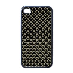 Scales2 Black Marble & Khaki Fabric (r) Apple Iphone 4 Case (black) by trendistuff