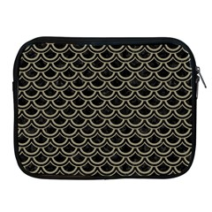Scales2 Black Marble & Khaki Fabric (r) Apple Ipad 2/3/4 Zipper Cases by trendistuff