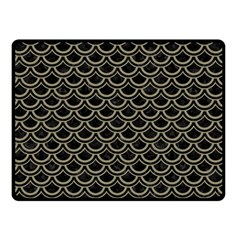 Scales2 Black Marble & Khaki Fabric (r) Double Sided Fleece Blanket (small)  by trendistuff