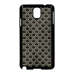 Scales2 Black Marble & Khaki Fabric (r) Samsung Galaxy Note 3 Neo Hardshell Case (black) by trendistuff