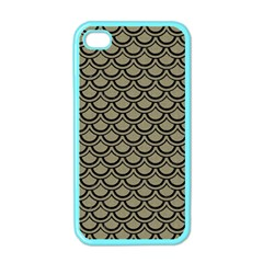 Scales2 Black Marble & Khaki Fabric Apple Iphone 4 Case (color) by trendistuff