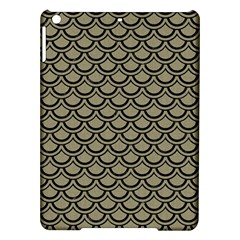 Scales2 Black Marble & Khaki Fabric Ipad Air Hardshell Cases by trendistuff