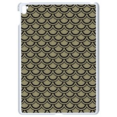 Scales2 Black Marble & Khaki Fabric Apple Ipad Pro 9 7   White Seamless Case by trendistuff