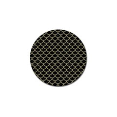 Scales1 Black Marble & Khaki Fabric (r) Golf Ball Marker (10 Pack) by trendistuff