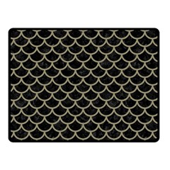 Scales1 Black Marble & Khaki Fabric (r) Double Sided Fleece Blanket (small)  by trendistuff
