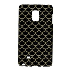Scales1 Black Marble & Khaki Fabric (r) Galaxy Note Edge by trendistuff