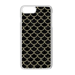 Scales1 Black Marble & Khaki Fabric (r) Apple Iphone 8 Plus Seamless Case (white) by trendistuff