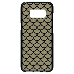 Scales1 Black Marble & Khaki Fabric Samsung Galaxy S8 Black Seamless Case