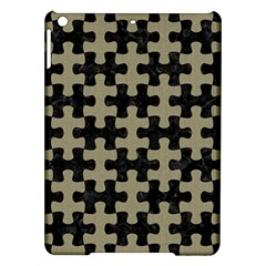 Puzzle1 Black Marble & Khaki Fabric Ipad Air Hardshell Cases by trendistuff