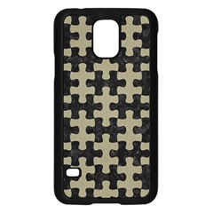 Puzzle1 Black Marble & Khaki Fabric Samsung Galaxy S5 Case (black) by trendistuff