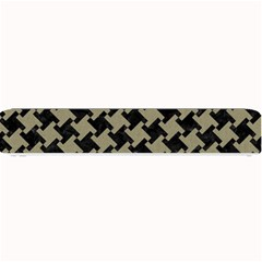 Houndstooth2 Black Marble & Khaki Fabric Small Bar Mats by trendistuff