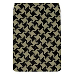 Houndstooth2 Black Marble & Khaki Fabric Flap Covers (s)  by trendistuff