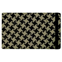 Houndstooth2 Black Marble & Khaki Fabric Apple Ipad Pro 9 7   Flip Case by trendistuff