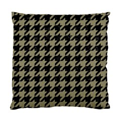 Houndstooth1 Black Marble & Khaki Fabric Standard Cushion Case (two Sides) by trendistuff