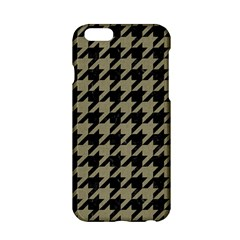 Houndstooth1 Black Marble & Khaki Fabric Apple Iphone 6/6s Hardshell Case by trendistuff